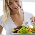 Bild Frau mit gesundem Essen