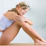 Bild junge Frau mit gesund Haut