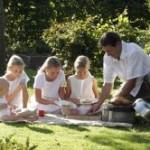 Bild sauberes outdoor Grillen